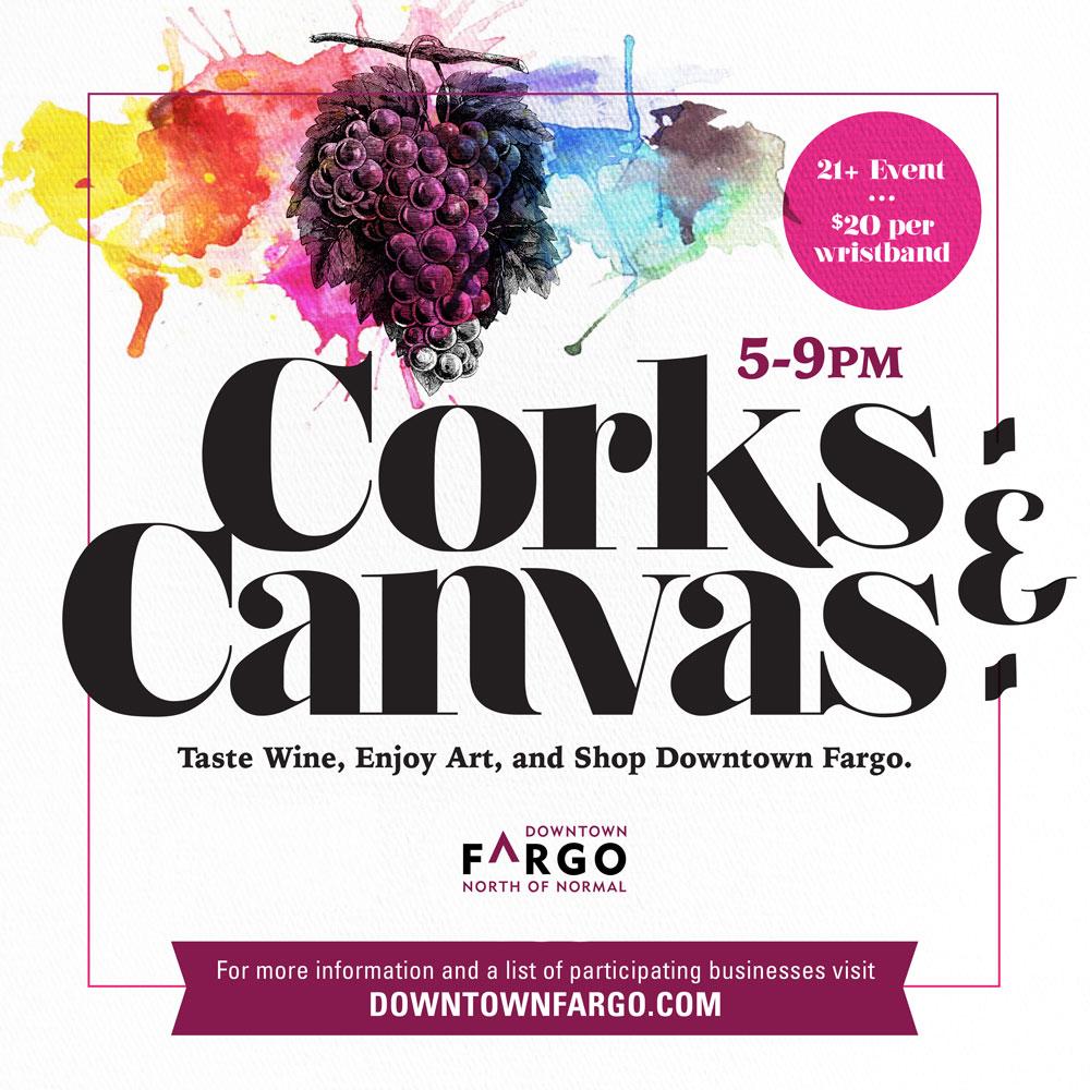 Corks Canvas Downtown Community Partnership