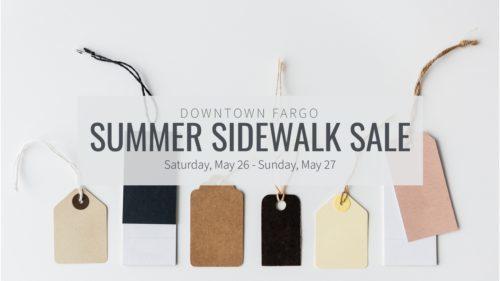 Downtown Fargo Summer Sidewalk Sale Downtown Community Partnership